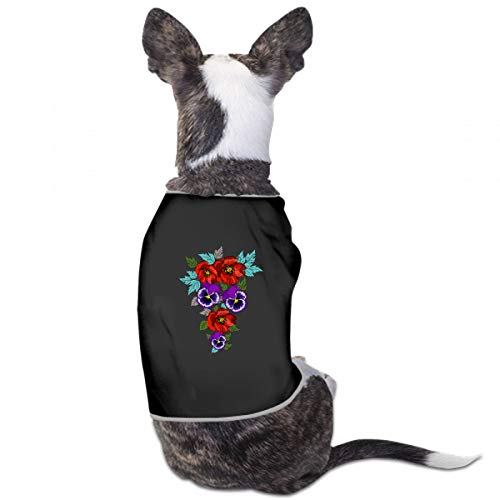 - XUGGL Dog Clothes Birthday Ethnic Ornament Violets Pansies Poppies Your Tank Top Soft Cotton Dog Clothes Women