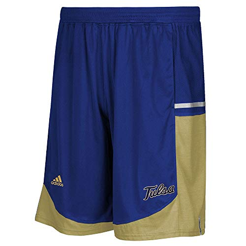 adidas Tulsa Golden Hurricane NCAA Mens Blue Climalite Modern Varsity Basketball Shorts (5XL)