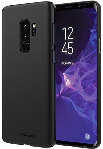 Samsung Galaxy S9 Plus Case, ProCase Slim Shock Absorption Protective Case Heavy Duty Scratch Resistant Hard Shell Bumper Case for Samsung Galaxy S9+ 2018 –Black