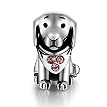 925 Sterling Silver Puppy Dog Animal Charms Bead Fit Pandora Bracelets for Women