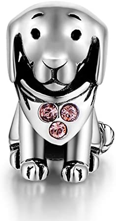 [スポンサー プロダクト]SPARKL 925 シルバー 透かし 動物 犬 象 デザイン チャーム ペンダント アクセサリートップ 細工 立体チャーム DIY用 手芸用品 ジュエリー用 アクセサリーパーツ 手作り素材 シルバー (忠実な子犬)