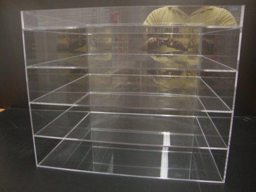 Retail Showcase (Acrylic Lucite Plexiglass Showcase Counter Cabinet Retail Store Display Case (4 Tiers 16 1/4