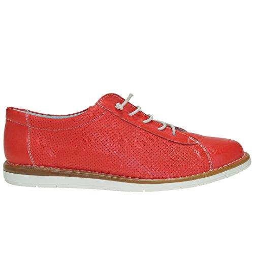 Mujer Rojo Piso Blanco 111 Boleta Para Y Cordones Elásticos Casual De Zapato Goma w6f7nqPxaA