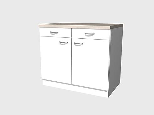 Küchen Unterschrank 100 cm weiss - Witus: Amazon.de: Küche & Haushalt