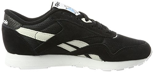 Fbt Electric Zapatillas Flash para Classic Nylon C blue Mujer Negro Black White Reebok Hwx1Etqw