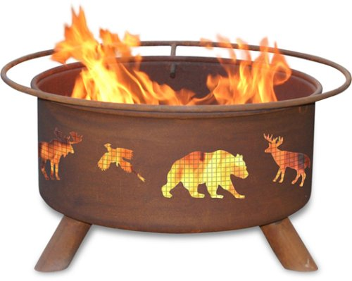 Patina Products F106,  30 Inch Wildlife Fire Pit by Patina