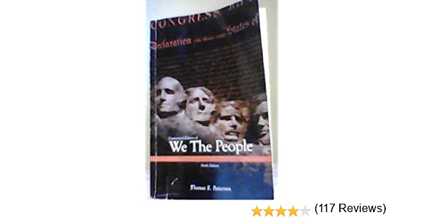 Looseleaf for we the people thomas patterson 9780077583996 amazon looseleaf for we the people thomas patterson 9780077583996 amazon books fandeluxe Choice Image