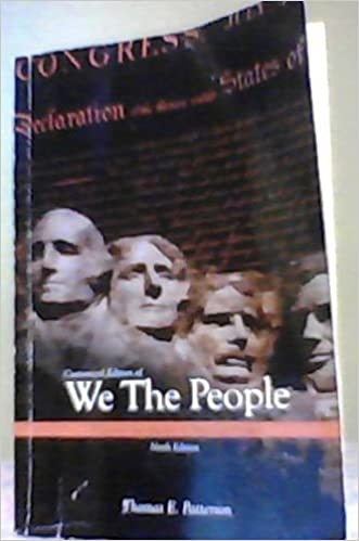 Looseleaf for we the people thomas patterson 9780077583996 amazon looseleaf for we the people 9th edition by thomas patterson fandeluxe Choice Image