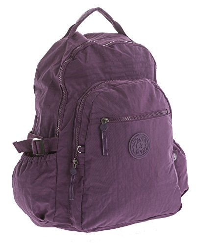 1 porté dos Big Shop Style femme à Violet Backpack au pour main Sac Handbag x4nR7