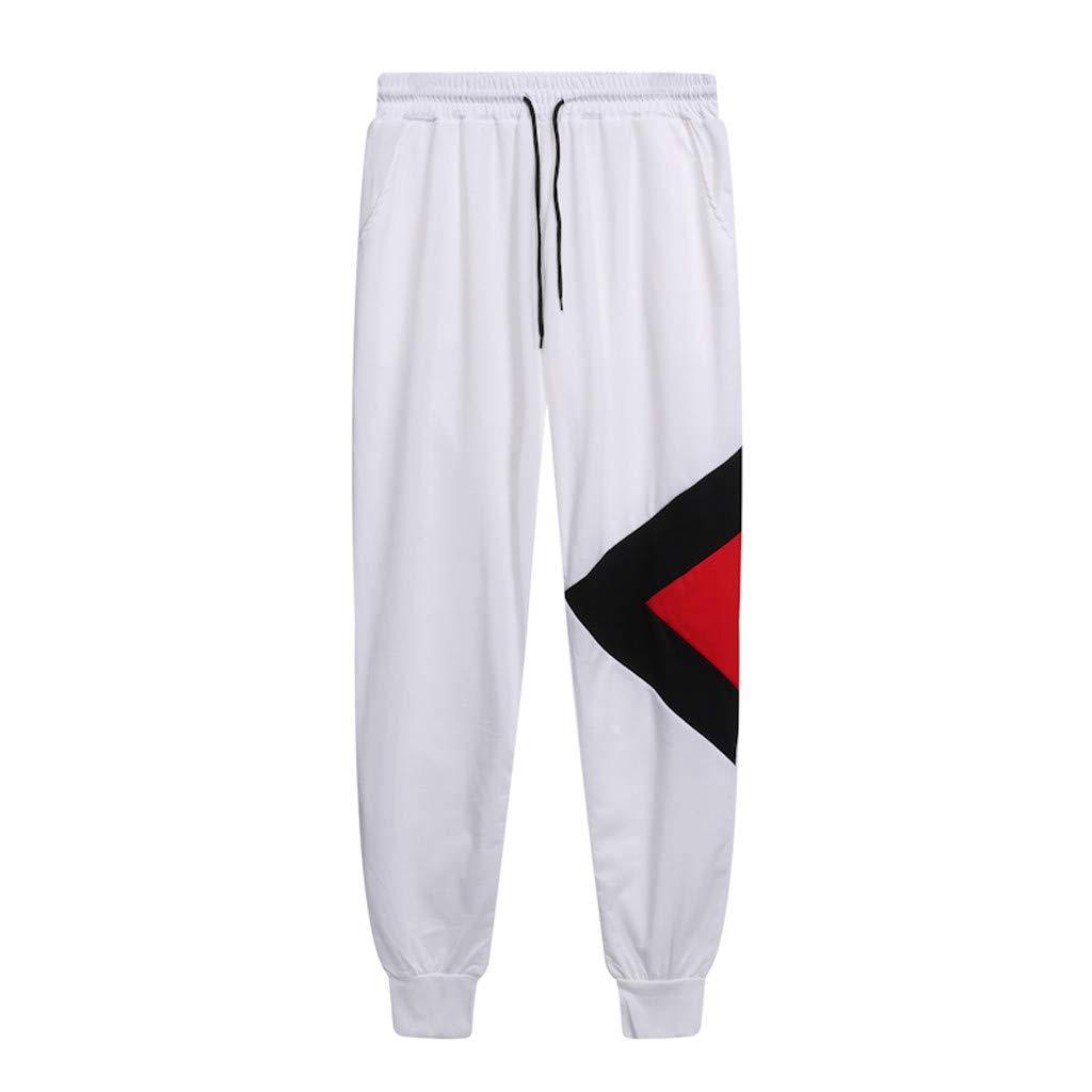 MmNote Mens Tracksuit 2PC Set Patchwork Sweatshirt Top Pants Hooded Sports Suit