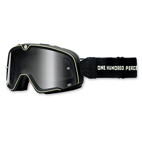 100% Unisex Adult Barstow Black Classic Goggles - Outlet Barstow
