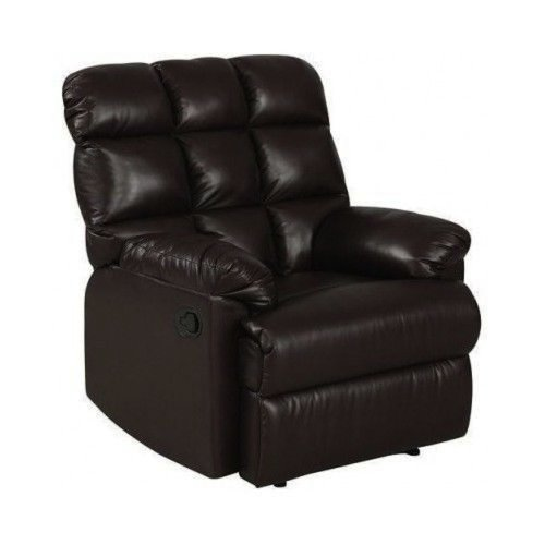 Leather Recliner Chair a Large Comfort Armchair Overstuffed