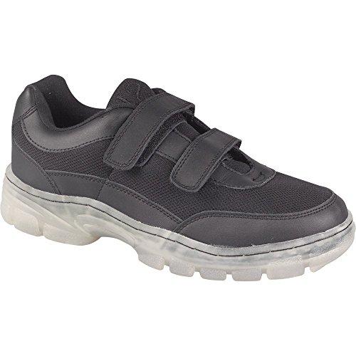 Goldwater Mens Casual Lightweight Hook /& Loop Low Top Sneaker Tennis Shoes