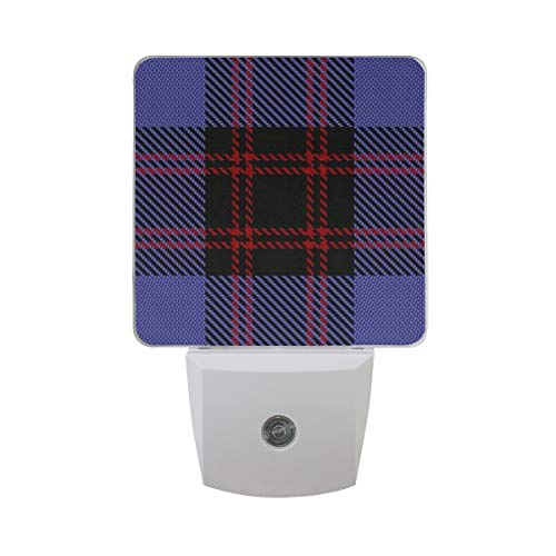 Smart Dusk to Dawn Sensor,Scottish Clan Rutherford Tartan Plug in Night Light Great for Bedroom Bathroom Hallway Stairways Or Any Dark Room ()