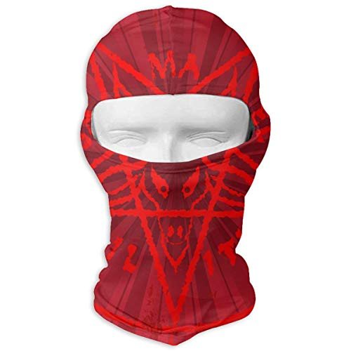 (Leopoldson Cool Satan Baphomet Balaclava UV Protection Windproof Ski Face Masks for Cycling Outdoor Sports Full Face Mask)