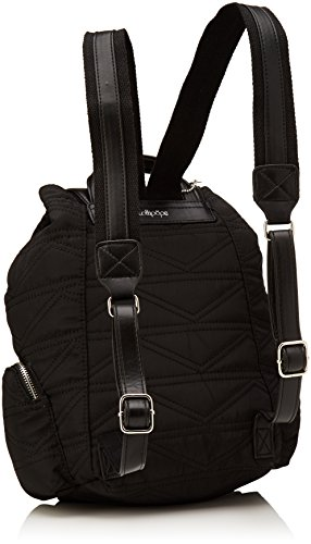 Lollipops Damen Billow Backpack Schultertasche, Schwarz (Black), 14x31x31 centimeters