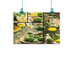Anzhutwelve Kitchen,Wall Artwork W 28 x L 20 Freshly Harvested Olives Image Print Decorative Painted