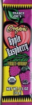 Trader Joes Organic Apple Raspberry Fruit Wrap (Pack of 12)