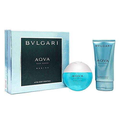 Aqva Marine (Bvlgari Aqva Pour Homme Marine Coffret: Eau De Toilette Spray 100ml/3.4oz + Shampoo & Shower Gel 150ml/5oz 2pcs)