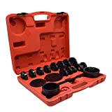 DakRide FWD Front Wheel Drive Bearing Adapters Installation Removal Puller Pulley Replacement Installer Tool Kit and Carring Case (23pcs)