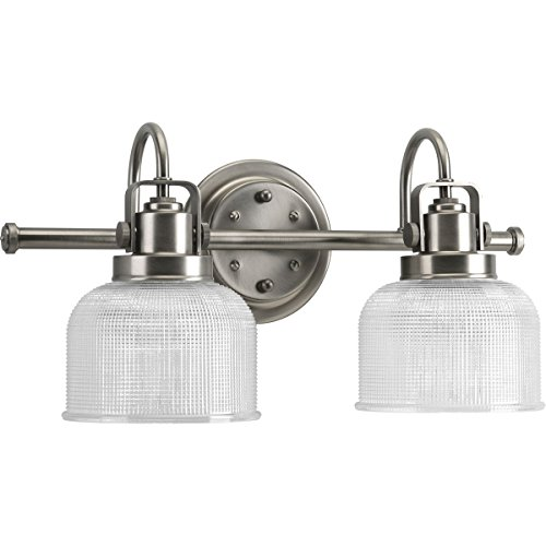 Progress Lighting P2991-81 Archie Collection Two-Light Bath & Vanity, Antique Nickel Antique Brushed Nickel Collection