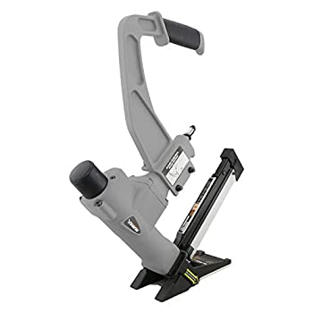 Image of NuMax SFL618 Pneumatic 3-in-1 15.5-Gauge and 16-Gauge 2' Flooring Nailer and Stapler with White Rubber Mallet Ergonomic and Lightweight Nail Gun for T-Cleats, L-Cleats, and Staples Flooring Nailers