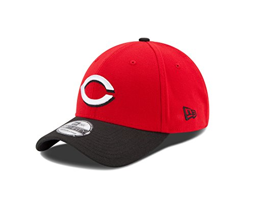 MLB Cincinnati Reds Team Classic Road 39Thirty Stretch Fit Cap, Red, Medium/Large