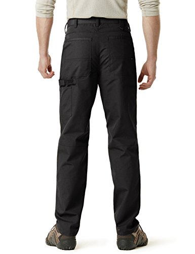 CQR CQ-TWP301-BLK_38W/34L Men's Operator Rip-Stop Tactical Work Utility Pants EDC TWP301