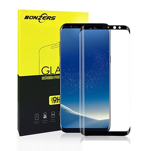 繊毛隠ぞっとするようなGalaxy S8 フィルム 強化ガラス 硬度9H 3D曲面 ギャラクシー S8 保護フィルム 高透過率 指紋防止 気泡ゼロ 飛散防止