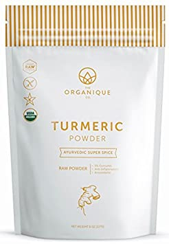Turmeric Root Powder   Certified Organic, 100 Percents Pure, Raw With Curcumin   Non Gmo, Vegan Superfood   Antioxidants Brain And Beauty... by The Organique Co.