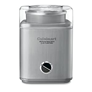Cuisinart ICE-30BC Pure Indulgence 2-Quart Automatic Frozen Yogurt, Sorbet, and Ice Cream Maker – Silver