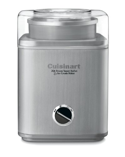 Cuisinart ICE-30BC Pure Indulgence 2-Quart Automatic Frozen Yogurt, Sorbet, and Ice Cream Maker - Silver (Frozen Custard Machine)