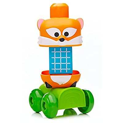 Mega Bloks First Builders Forest Friends Discoveries Stacker Building Set: Toys & Games