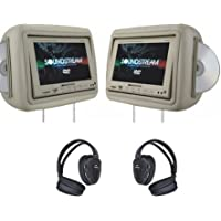 Soundstream VHD9GR Headrests with DVD - Gray