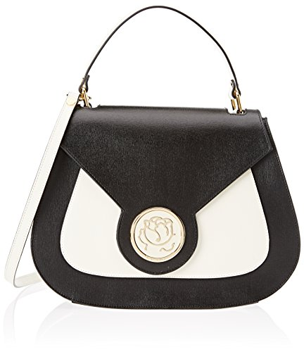 Braccialini Alicia, Women's Top-Handle Bag, Multicolore (Nero/avorio), 11x26x33 cm (W x H (Braccialini Women Handbags)