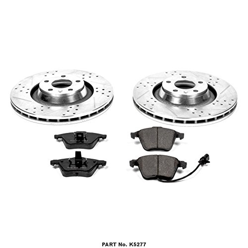 Power Stop K5277 Front Z23 Evolution Brake Kit with Drilled//Slotted Rotors and Ceramic Brake Pads