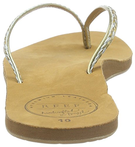 Braid Sandalias Uptown Marrón Para Leather flop Mujer champagne Flip Reef AEqxwPHt