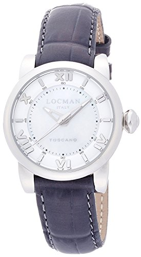 LOCMAN watch Toscano Quartz date 100M waterproof ladies 0595V12 0595V12-00MWPSA Ladies