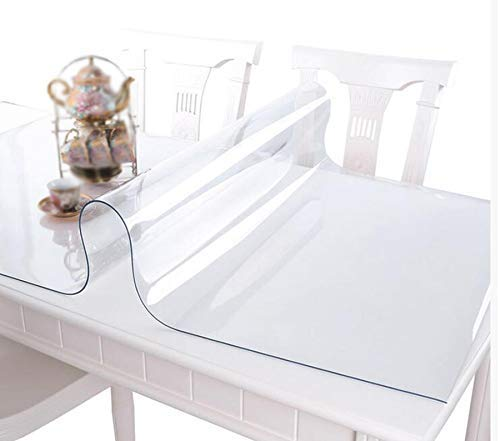 家の装飾布カバー 、透明の柔らかいガラス防水オイルテーブルのコーヒーテーブルクロス(色:A、サイズ:80 * 130) テーブルクロス (色 : A, サイズ : 60*120) 60*120 A B07R21GBQT