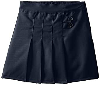 (4717) Genuine School Uniforms Girls 2 Tab Pleated Scooter Skort (Sizes 4-16) in Navy Size: 7