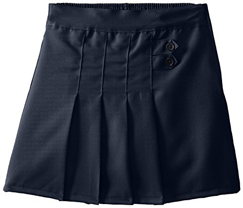 2 Button Stretch Skort ((4717) Genuine School Uniforms Girls 2 Tab Pleated Scooter Skort (Sizes 4-16) in Navy Size: 12)