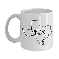 God Bless Texas and My Family White Ceramic Coffee Mug - 11 & 15 oz