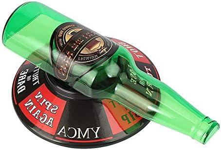 Cara Spin The Bottle juego de bar para beber, juego de decoración de fiesta, juguetes para botellas de vino, copas de vino giratorias, juego de entretenimiento: Amazon.es: Hogar