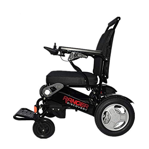 Porto Mobility Ranger D09 Exclusive Portable Power Wheelchair, Lightweight only 50 LBS, Foldable, Heavy Duty, Dual Battery, Dual Motor Folding Electric Wheelchair - 18.5