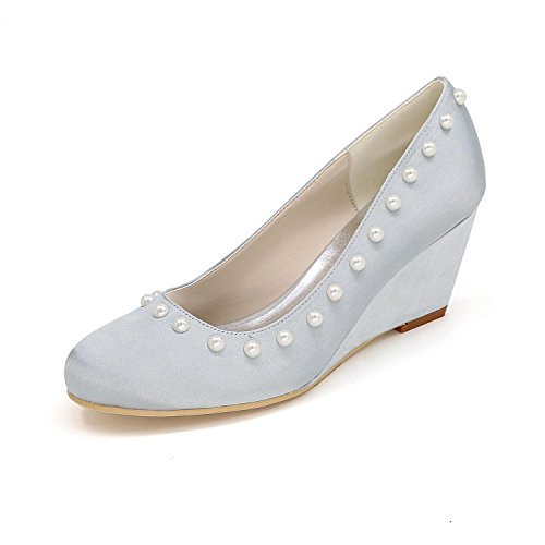 Shoes 01 Slip Custom Women Big Size Wedding Silver Dresses YC L Shoe Heel High Heels 9140 FpqwBvpUx