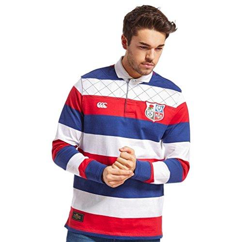 Canterbury British and Irish Lions Wide Stripe Rugby Shirt, Red, S