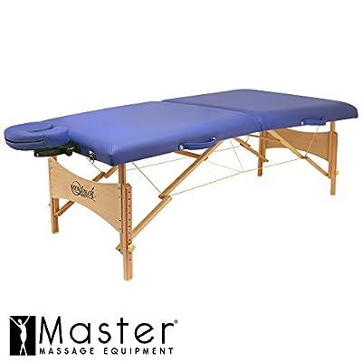 Master Massage Brady Lightweight Portable Massage Table, Sky Blue, 27 Inch