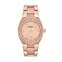 Fossil Women's AM4508 Serena Analog Display Analog Quartz Rose Gold Watch