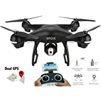 RC Drone with Camera, MaQue MQ001 FPV Live Video and GPS Return Home Quadcopter with Adjustable Wide-Angle 720P HD WIFI Camera- Follow Me, Altitude Hold, Intelligent Battery, Long Control Distance