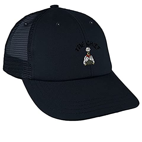 The Chief Embroidery Design Low Crown Mesh Golf Snapback Hat Navy (Chief Head Snapback)